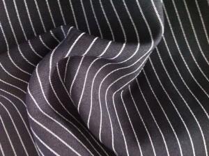 black strip mini matt fabric