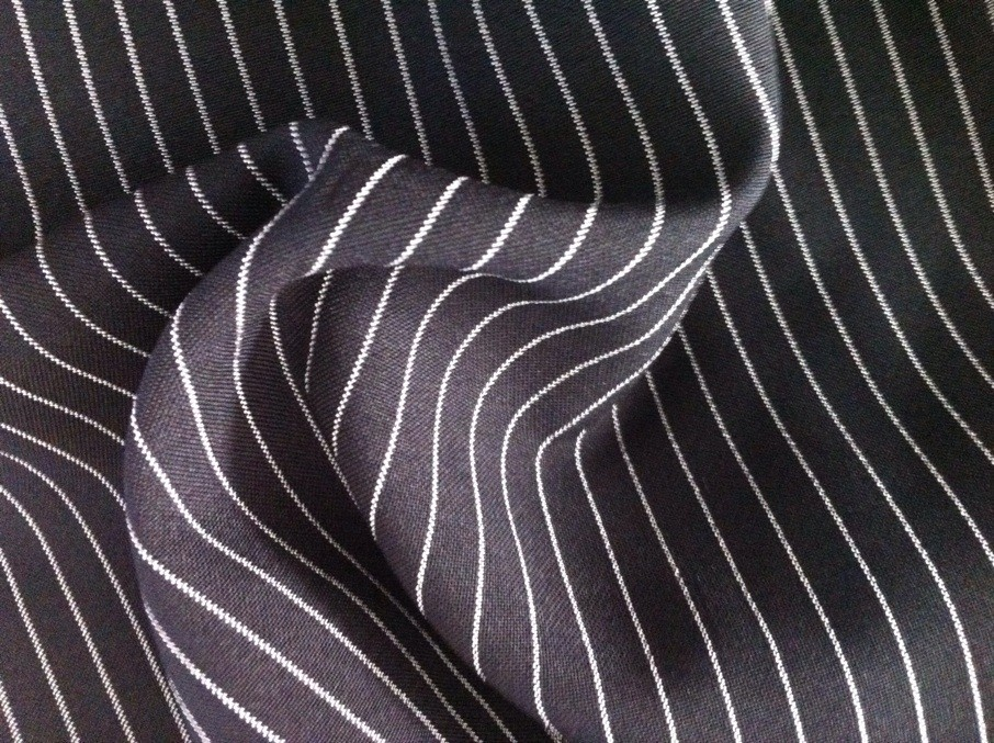 black strip mini matt fabric